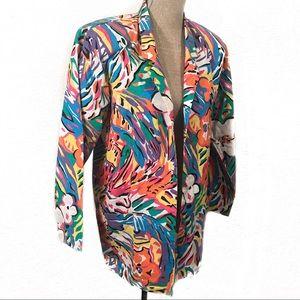 Wild vintage 80's blazer jacket